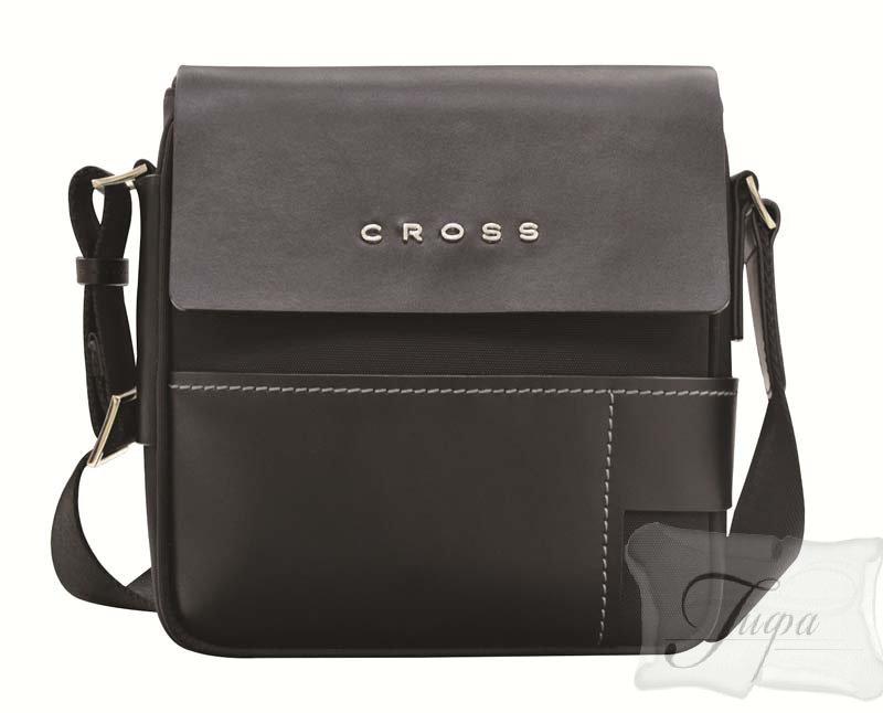 356416d5817a Мужская кожаная сумка через плечо Cross Seville чёрная Cross купить ...